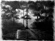 Early Drawings Originals - Atchafalaya Sunrise by Ron Landry