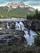 Alberta Water Falls Framed Prints - Athabasca Falls in Jasper National Park - Alberta Canada Framed Print by Daniel Hagerman