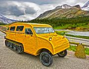Gregory Dyer - Athabasca Glacier - Vintage Snow Mobile