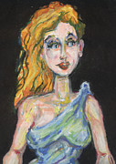 Goddess Mythology Pastels - Athena Goddess of War by Derrick Hayes