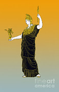 Athena, Greek Goddess Print by Photo Researchers