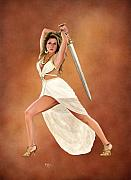 Greek Mythology Originals - Athena by Kevin Clark