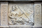 Greek Warrior Art - Athena Relief in Gdansk by Artur Bogacki
