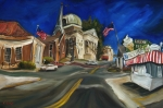 Square Paintings - Athens AL by Carole Foret