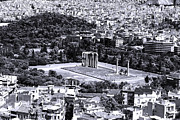 Athens Cityscape Iv Print by John Rizzuto