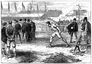 Athletics: Shot Put, 1875 Print by Granger