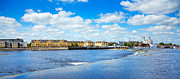 Famous Bridge Metal Prints - Athlone city and Shannon river Metal Print by Gabriela Insuratelu