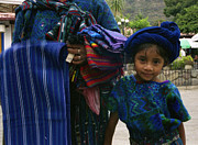 Headdresses Photos - Atitlan Girl by Nettie Pena