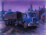 1960s Paintings - Atkinson bulk coal tipper by Mike  Jeffries