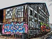 Photographers Atlanta Prints - Atlanta Graffiti Warehouse Print by Corky Willis Atlanta Photography