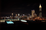 Atlanta Skyline Art - Atlanta Night Skyline by Carol Groenen