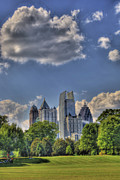 Photographers Atlanta Posters - Atlanta Piedmont Park View Poster by Corky Willis Atlanta Photography