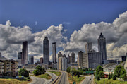 Photographers College Park Posters - Atlanta Skyline Poster by Corky Willis Atlanta Photography