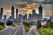 Atlanta Skyline Art - Atlanta Turbulence by Danny Price