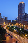 Boston Harbor Photos - Atlantic Avenue with One International Place and Boston Harbor Hotel by Juergen Roth