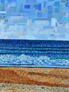 Acrylic Art - Atlantic Beach in July by Micah Mullen