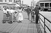Straw Hats Photos - Atlantic City Boardwalk 1902 by Padre Art
