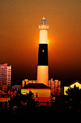 Lighthouse Digital Art - Atlantic City Lighthouse by Bill Cannon
