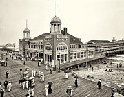 Pier Digital Art - Atlantic City Steel Pier 1910 by Bill Cannon