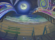 Ac Paintings - Atlantic City Time Warp by S Vagabond
