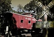 Coast Line Posters - Atlantic Coast  Line Railroad Carriage Poster by Mal Bray