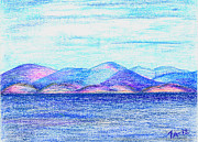 Atlantic Mountains 2 Print by Taruna Rettinger
