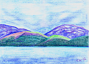 Atlantic Ocean Pastels Metal Prints - Atlantic mountains Metal Print by Taruna Rettinger