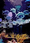 Atlantis Aquarium Print by DigiArt Diaries by Vicky B Fuller