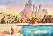 Atlantis Painting Prints - Atlantis Retrospect Print by Frank SantAgata
