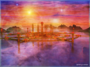 3d Modeling Framed Prints - Atlantis Rising Framed Print by RP Callahan