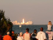 Atlantis Prints - Atlantis Shuttle Launch Print by David Bearden