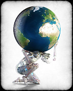 Frederico Borges Digital Art Prints - Atlas 3000 Print by Frederico Borges