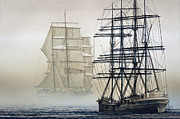 Tall Ships Metal Prints - ATLAS and INVERCLYDE Metal Print by James Williamson