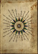 Library Of Congress Photos - Atlas Compass, 16th Century by Library Of Congress, Geography And Map Division