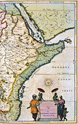 Turban Framed Prints - Atlas: East Africa, 1665 Framed Print by Granger