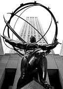 Rockefeller Center Prints - Atlas Print by Mitch Cat