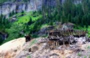 Colorado Art - Atlas Stamp Mill Ruins by Lana Trussell