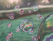 Summer Fun Pastels - Atmospheres Summer Bubbles by Sandra Ragan