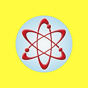 Social Issues Prints - Atom Symbol Print by Nathan Griffith/Fuse