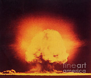 A-bomb Framed Prints - Atomic Bomb Explosion Framed Print by Science Source