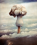 Detonation Posters - Atomic Bomb Explosion Poster by Us Department Of Energy