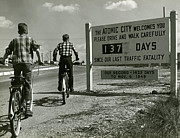 Tennessee Historic Site Photo Posters - Atomic City Tennessee in the Fifties Poster by Tom Hollyman and Photo Researchers