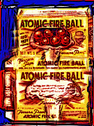 Atomic Mixed Media - Atomic Fire Ball by Russell Pierce