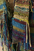 Hand-weaving Tapestries - Textiles - Atomic Forest - Fiber Art Woven by Karen Rester