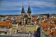 Town Square Prints - Atop the Clock Tower - Prague Print by Jon Berghoff