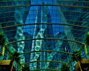 Chris Lord Metal Prints - Atrium GM Building Detroit Metal Print by Chris Lord