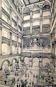 Atriums Framed Prints - Atrium In John Wanamakers Store In Philadelphia Pa In 1909 Framed Print by Dwight Goss