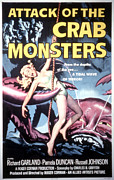 1950s Movies Framed Prints - Attack Of The Crab Monsters, Poster Framed Print by Everett
