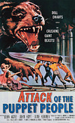 1950s Poster Art Framed Prints - Attack Of The Puppet People, 1958 Framed Print by Everett
