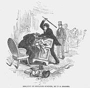 Senate Prints - Attack On Sumner, 1856 Print by Granger